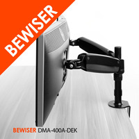 """articulating dual folding lcd monitor arm stand holds up to 30"""" widescreen displays (BEWISER DMA-400A-DEK)"""
