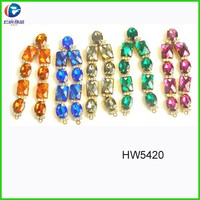 crystal accessories slipper decoration for sandals clips