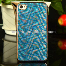 FL570 2013 hottest Metal model round earth pattern cover case for iphone 4&4S,earth-rounded print phone case for 4s