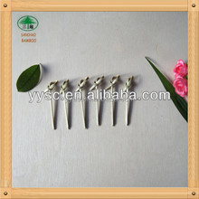 Flower knot bamboo skewers