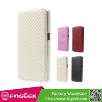 Magnetic Vertical Flip Carbon Fiber Leather Case for Samsung Galaxy Core 2 G355H