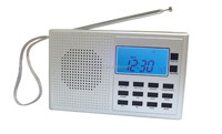 Newest FM/MW/SW(1-9) 11 Band world receiver, 400 memory stations 10 SDA daily alert, 5 count down timers,stop watch function