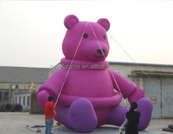 2015 Hot sale giant inflatable teddy bear for advertising