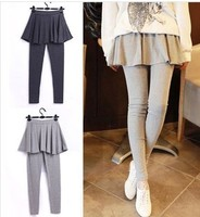 D60335A KOREAN VERSION OF THE THICK VEVET WINTER FASHION FAKE TWO BIG SKIRT PANTYHOSE