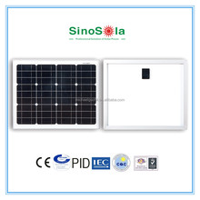 Dedicate,25years warranty,good price mono solar panel 30W with TUV/CEC/CE/IEC/PID/ISO certificates