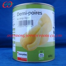 Cheap price Canned fruit manufacturer, canned pear in light syrup