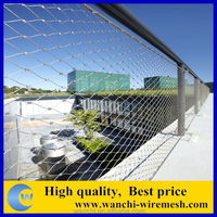 ss 304 hand woven building cable wire rope mesh /animal fence