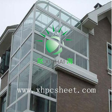 High Quality ISO certification 100%Bayer Marolon Roof Cover Canopy Sunshade solid polycarbonate sheet balcony protection