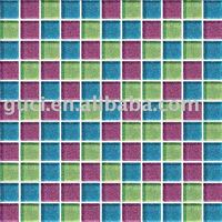 Glass mosaic color combination for tiles and wall
