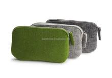 felt fabric new design school pencil case button pouch for sale