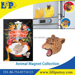 Mini animal magnet for fridge and white board leopard promotion gifts