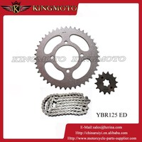 YBR125 Aluminum/Slivery Motorcycle Parts Competitive Chain Drive Sprocket Prices Specification Standard Chain Sprocket