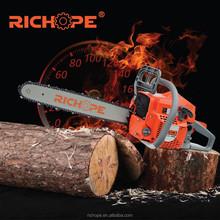 Vente chaude RICHOPE essence tronçonneuse 52cc alpina tronçonneuse