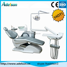India market! cheap dental chair unit price good quality down tool tray PU cushion rotary glass spittoon ce approved ADS-8500