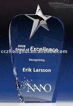 Star design blue crystal award