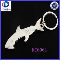 Metal Shark Shaped Bottle Opener key ring