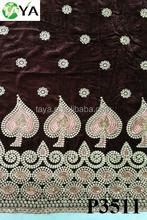 Wholesale African Velvet Fabric Lace goerge velvet
