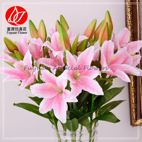 150340 factory wholesale handmade fabric flower names of flowers factory cheap artificial lily flower 5 mightylinksfo