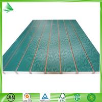 Top sale 4'X8' China home decor dark green shadow wall melamine slotted mdf board