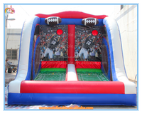 Funny inflatable shooting goal games,inflatable rugby goal post games for sale