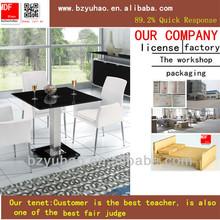 Yuhao- 227 venta caliente de acero inoxidable de la tabla base no rayar el vidrio mesas de comedor