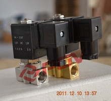 Pilot normally closed gas high pressure 24v dc solenoid valve