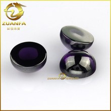 wholesale loose amethyst cubic zirconia gemstone flat back round cut cabochon