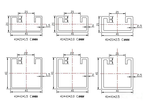 Widely used steel products c channel standard sizes gi