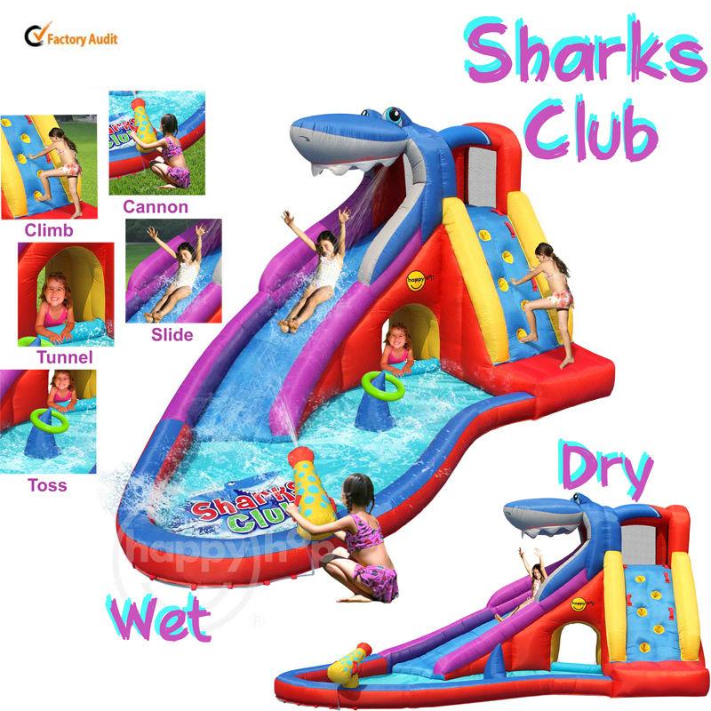 Happy hop 9417 inflatable combo bouncer wet dry water for Happy hop inflatable water slide