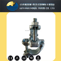 steel pipe galvanized right angle clamp & coupler for construction scaffolding ,fence post , greenhouse