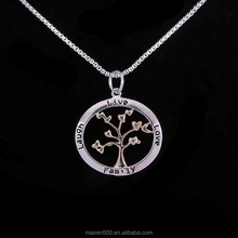Europe Hot new love family tree of life pendant necklace