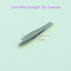 Cute Small Shape Straight Tip Stainless Steel Tweezers