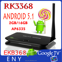 ENY EKB368 RK3368 dual wifi android 5.1 octa core bluetooth tv box internet