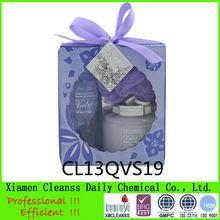 Violet Secret of heart shape paper box bath gift sets