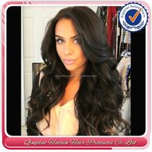 Hot Sales Nice Wavy Brazilian Human Hair Silicone Base Wig