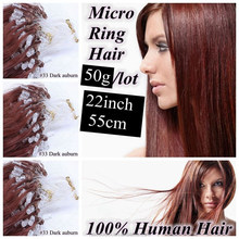 Wholesale Price Top Quality mciro loop hair extension keratin bond hair extension micro beads 22 inch 55cm 50gram 0.5g/s 100s