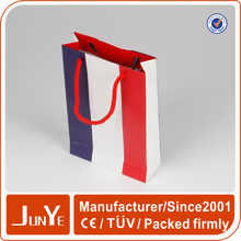 Fashionable color ready made handle paper bag manufacturer