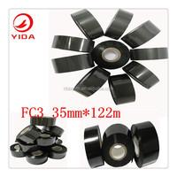 print batch number Yida used hot stamping foil FC3 black 35mm*122m heat transfer film