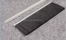 PP/ nylon wire aluminum alloy handle bristle brushes for door sweep