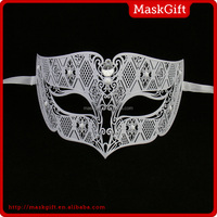 Popular Carnival party lady metal mask for dance