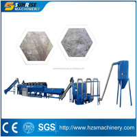 Waste PP/PE plastic film washing recycling machine