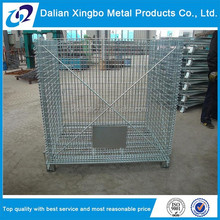 2015 Foldable rigid bottles wire container storage cages for cargo