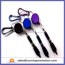 Plastic promotional pen with keyring