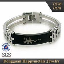 Stainless Steel Custom-Tailor Lock Bangle Bracelet