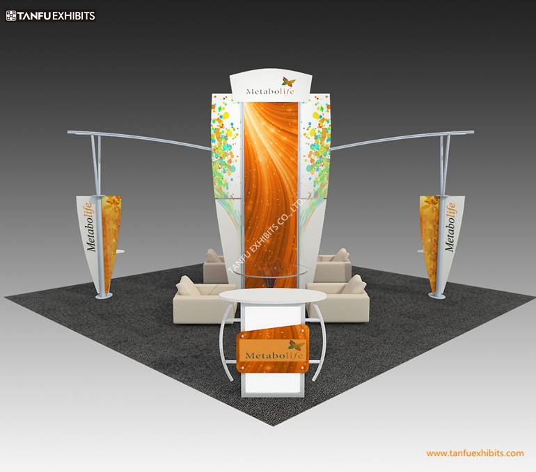 Island Exhibition Stand : Or exhibition booth stand with island style for