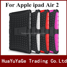 Free shipping Rugged Hard Robot Back Cover Stand Holder kickstand case for Apple ipad air 2 For ipad 6