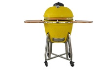 Yellow color ceramic charcoal bbq grills for garden used