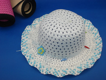 new design summer beach paper straw children bucket hat