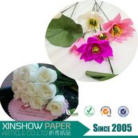Wedding flowers roll Wholesale crepe paper flowers