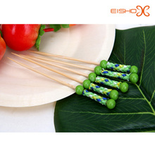 cute green bamboo skewer